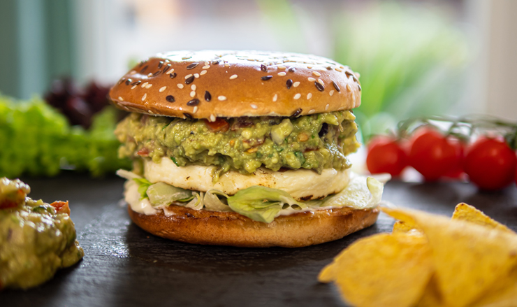 Guacamole burger Hambi módra